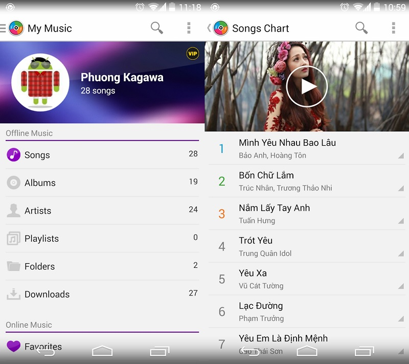 Tải Zing Mp3 cho Android