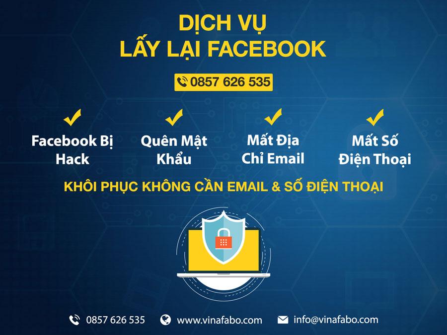 Dịch vụ lấy lại Facebook bị hack Email VinaFabo