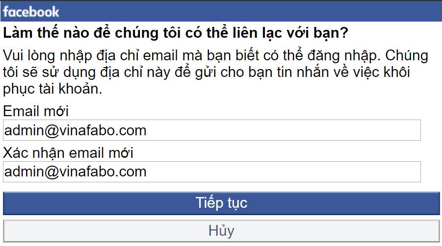 Nhập địa chỉ email mới